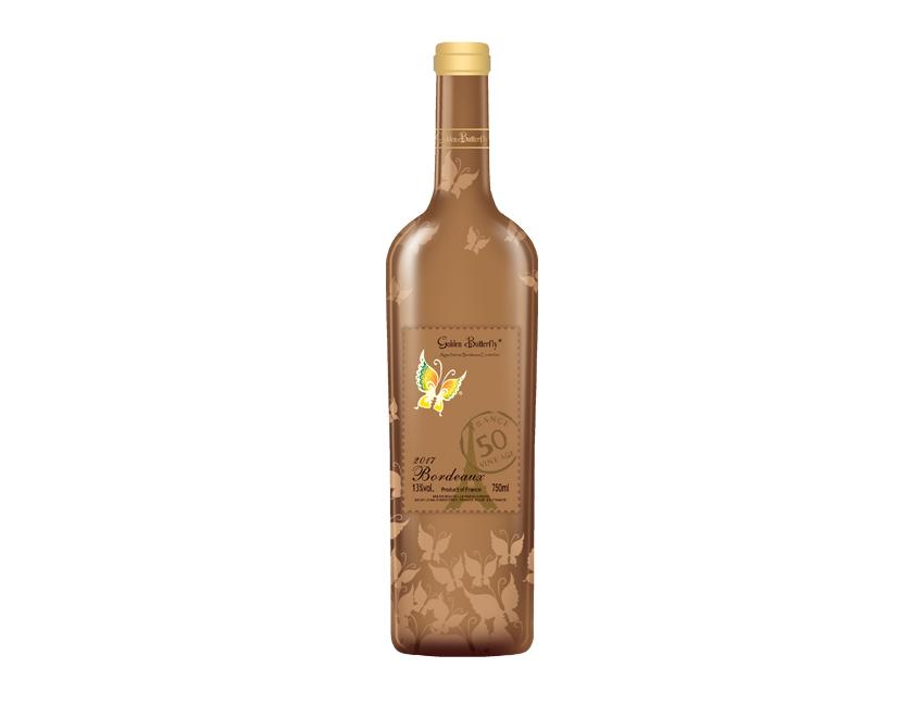 金蝴蝶干红葡萄酒(金模)